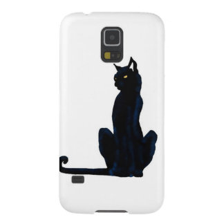 black halloween cat galaxy s5 covers