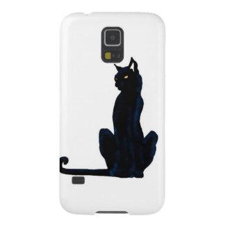 black halloween cat galaxy s5 covers