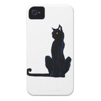 black halloween cat iPhone 4 Case-Mate case
