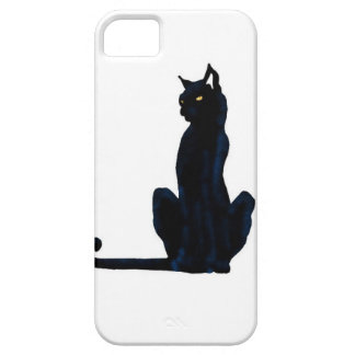 black halloween cat iPhone 5 cover