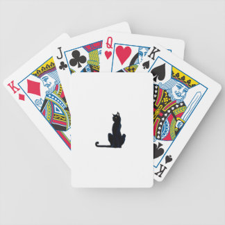 black halloween cat poker cards