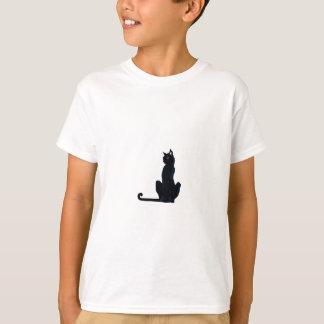 black halloween cat t-shirt