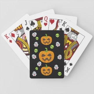 Black Halloween Emoji Playing Cards
