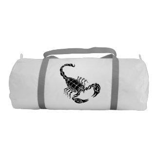 Black Hand-drawn Scorpion Doodle Gym Duffel Bag