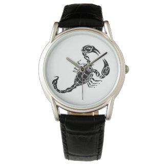 Black Hand-drawn Scorpion Doodle Watch