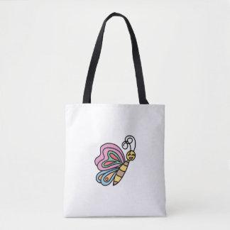Black Handle Inspired By Butterflies Tote Bag