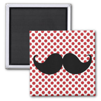 Black Handlebar Mustache Refrigerator Magnet