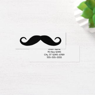 Black Handlebar Mustache Mini Business Card