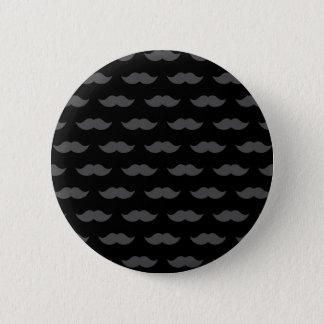 Black Handlebar Mustache Moustache Pattern 6 Cm Round Badge