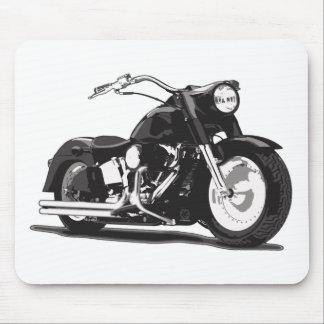 Black Harley motorcycle Mouse Pad