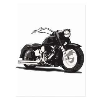Black Harley motorcycle Postcards