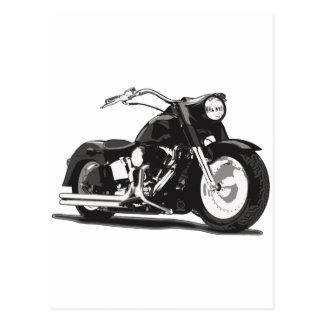 Black Harley motorcycle Postcard