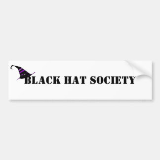 Black Hat Society Halloween Bumper Sticker