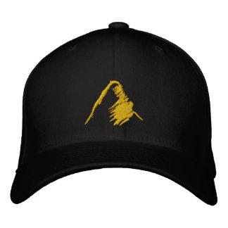 Black Hat with Embroidered Orange Logo Baseball Cap