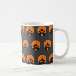 Black haunted house, bats for Halloween Coffee Mug