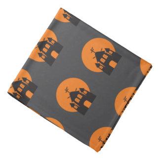 Black haunted house, bats for Halloween Kerchiefs