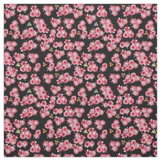 Black Hawaiian Multi1 Penguins Fabric