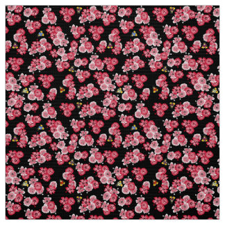 Black Hawaiian Multi2 Penguins Fabric