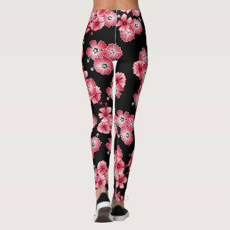 Black Hawaiian Multi Leggings