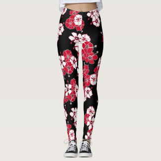Black Hawaiian Solid Leggings