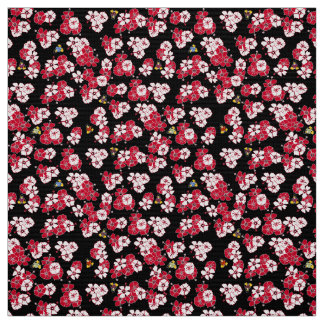 Black Hawaiian Solid Penguins Fabric