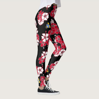 Black Hawaiian Solid Penguins Leggings