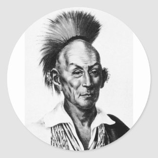 Black Hawk ~ Sac Sauk Indian Chief Round Sticker