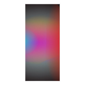 Black Hazy Airbrush Abstract Art Customized Rack Card