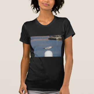 Black-headed gull perched on post calling T-Shirt