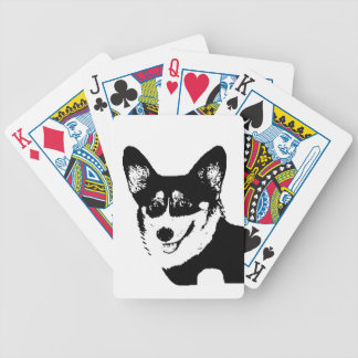 Black Headed Tricolor Welsh Corgi Bicycle Playing Cards