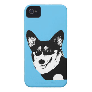 Black Headed Tricolor Welsh Corgi iPhone 4 Case-Mate Cases