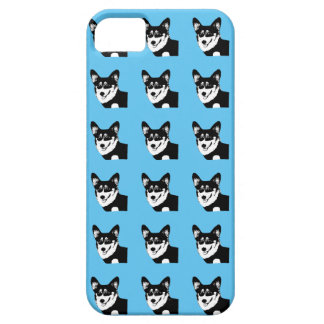 Black Headed Tricolor Welsh Corgi iPhone 5 Cases