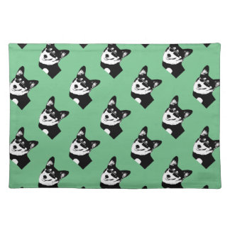 Black Headed Tricolor Welsh Corgi Placemat