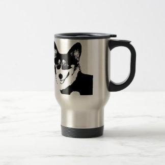 Black Headed Tricolor Welsh Corgi Travel Mug