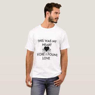 BLACK HEART BEFORE LOVE BASIC WHITE-T SHIRT
