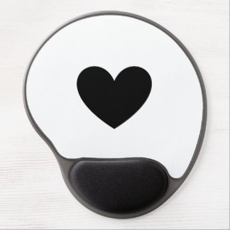 Black Heart Gel Mouse Pads