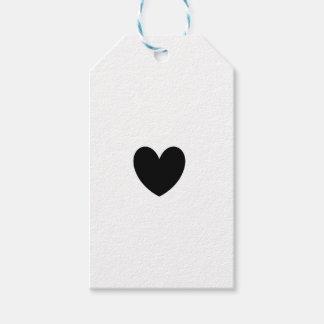 Black Heart Gift Tags