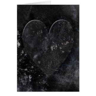 Black Heart Night Sky Gothic Valentine's Day Card