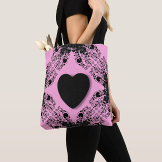 Black-Heart-Sweet-Pink-Totes-Shoulder-Bag's_Multi Tote Bag