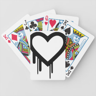 Black Heartbleed Dripping heart Bicycle Playing Cards