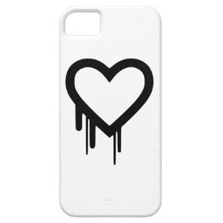 Black Heartbleed Dripping heart iPhone 5 Case