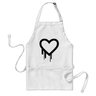 Black Heartbleed Dripping heart Standard Apron