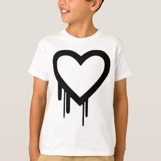Black Heartbleed Dripping heart T-Shirt