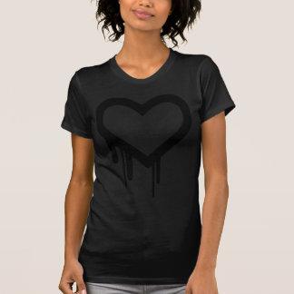 Black Heartbleed Dripping heart T-Shirt