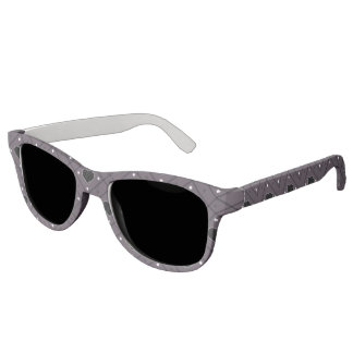 Black Hearts And Dots Plaid Pattern Sunglasses