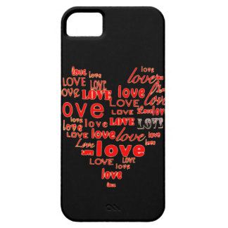 Black hearts and love iphone 5 case
