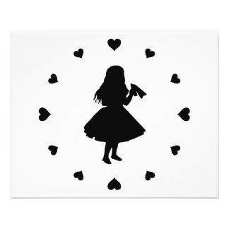 Black Hearts Around Alice Drinks 11.5 Cm X 14 Cm Flyer