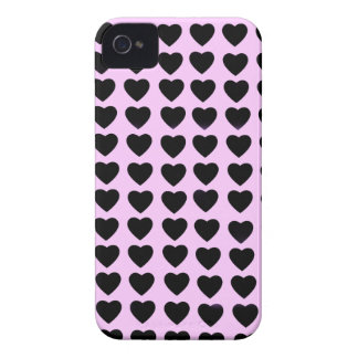 Black Hearts Barely There iPhone 4 Case