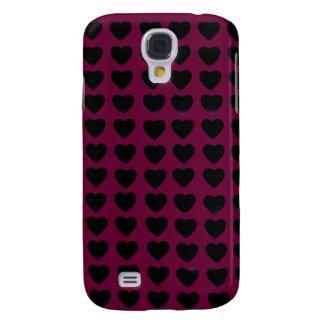 Black Hearts HTC Vivid phone case Samsung Galaxy S4 Case
