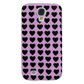 Black Hearts HTC Vivid phone case Galaxy S4 Cover